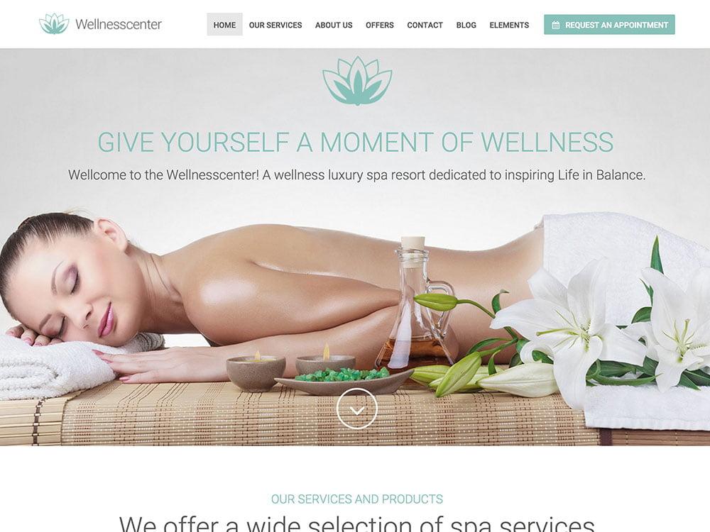 WellnessCenter - 32+ Best WordPress Themes For Yoga [year]