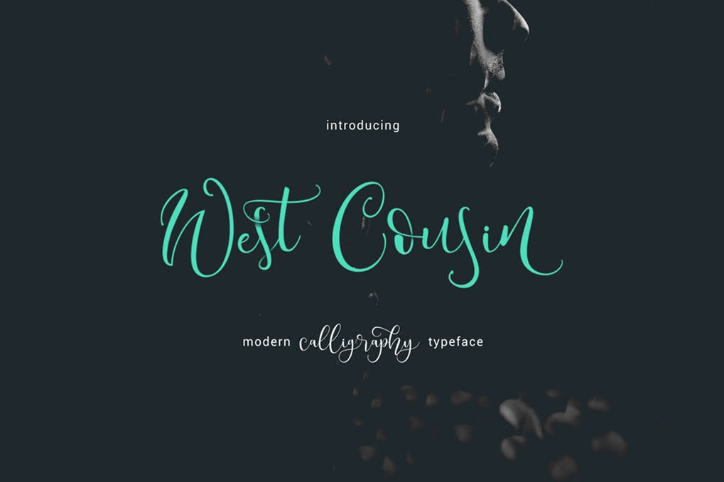 West-Cousin-Typeface - 51+ All Caps Fonts For Your Unique Personality Headline Website [year]