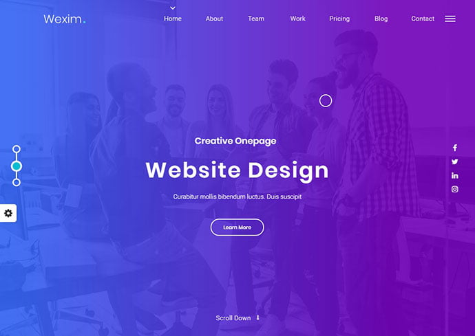 Wexim - 35+ Awesome Twitter Bootstrap Portfolio Site Templates