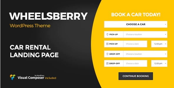 Wheelsberry - 36+ Top WordPress Vehicle & Transportation Themes [year]