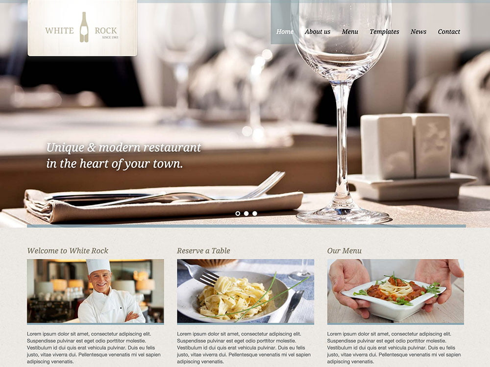 White-Rock - 51+ Best Restaurant WordPress Themes [year]