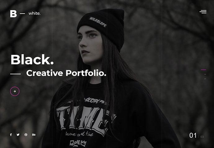 White - 35+ Awesome Twitter Bootstrap Portfolio Site Templates