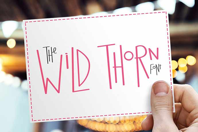 Wild-Thorn-Font - 51+ Stunning Travel Theme Designs Fonts For Your Website [year]
