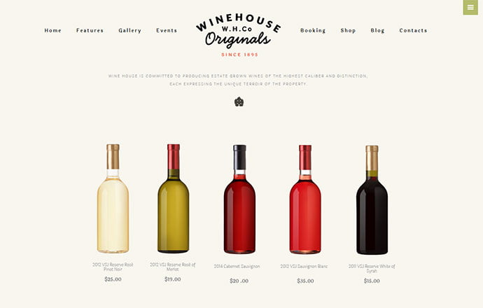 Wine-House - 30+ Excellent E-commerce WordPress Themes For Food & Drink [year]