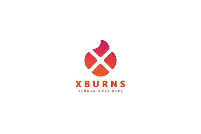 X-Burns-Logo-Letter-Template - 50+ BEST Single Letter Business Logo Template [year]