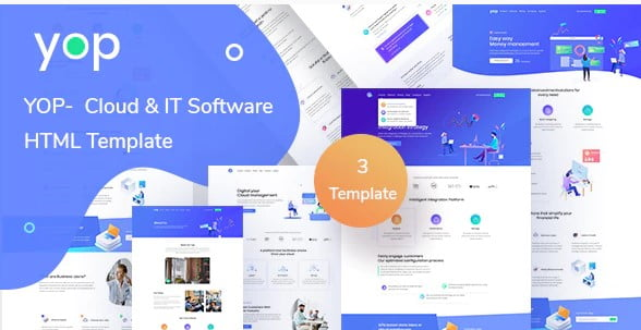 YOP - 77+ Best Free HTML & CSS Clean Simple Website Templates [year]