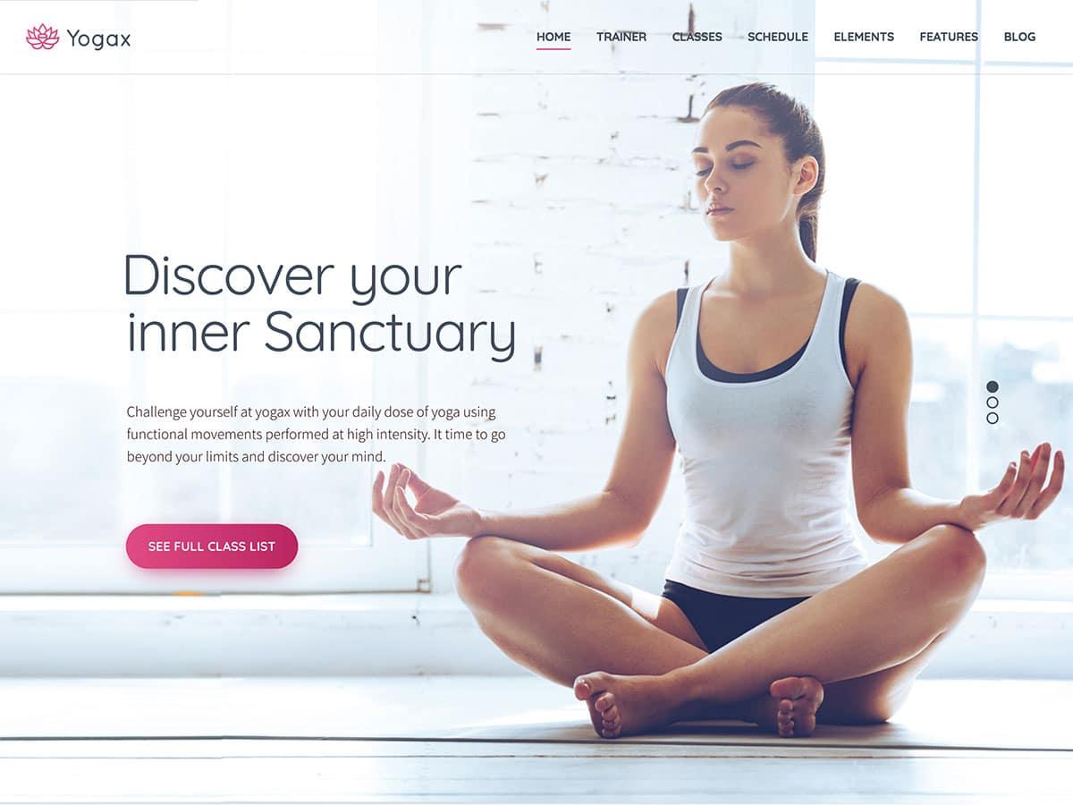 Yoga-X - 32+ Best WordPress Themes For Yoga [year]