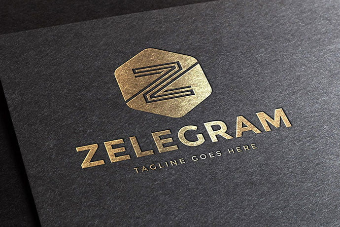 Zelegram-Letter-Z-Logo-Template - 50+ BEST Single Letter Business Logo Template [year]