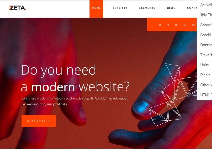 Zeta - 77+ Best Free HTML & CSS Clean Simple Website Templates [year]