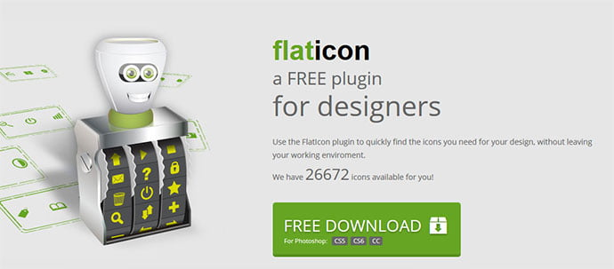 flaticon - 41+ Necessary Free Photoshop Plugins & Actions For Designer [year]