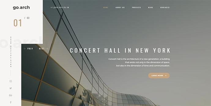 go.arch_ - 36+ Amazing WordPress Themes For Architect Portfolio [year]