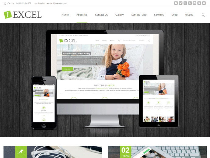 i-excel - 61+ Free Creating Responsive WordPress Themes [year]