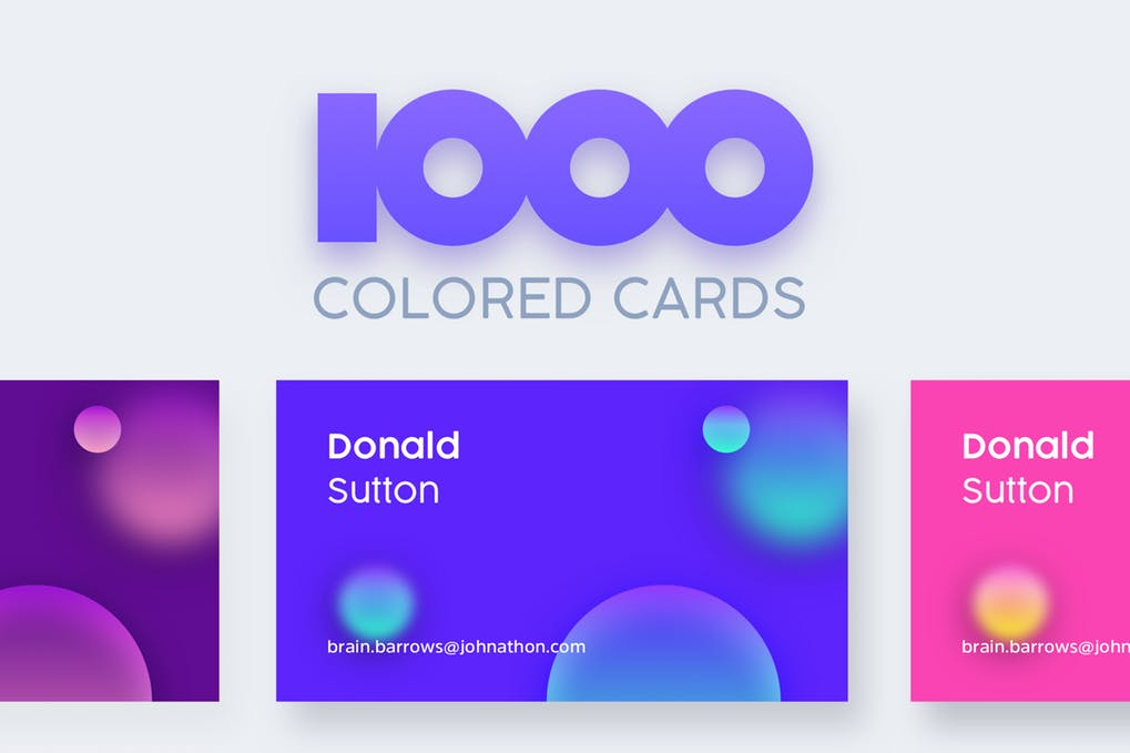 1000-Colored-Business-Cards - 46+ Photographer, Artist & Designer Business Card Templates [year]