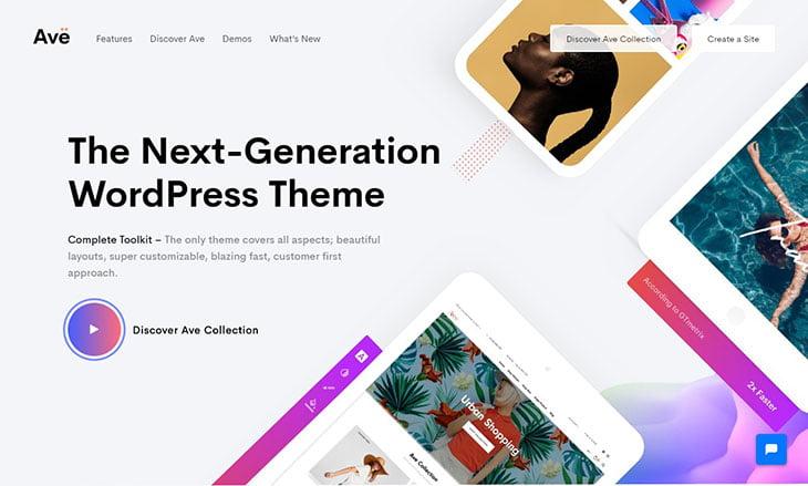 222 - 36+ Wonderful Gradients Designs WordPress Theme [year]
