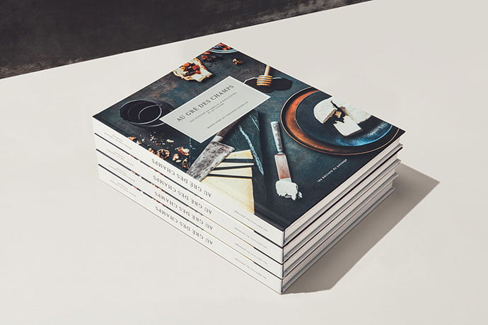 AU-GRÉ-DES-CHAMPS-Cookbook - 63+ Surprising Typography In Magazine & Book Designs [year]