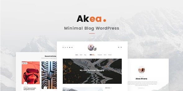 Akea - 33+ WordPress Themes To Make Your Blog Attractive [year]