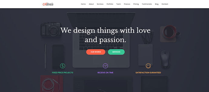 Alexis - 65+ Amazing Free CSS HTML5 Website Design Templates [year]