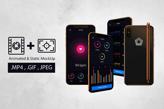 Animated-Iphone-X-Mockup-V.2 - 51+ Amazing iOS and Android Phone PSD Mockup Templates [year]