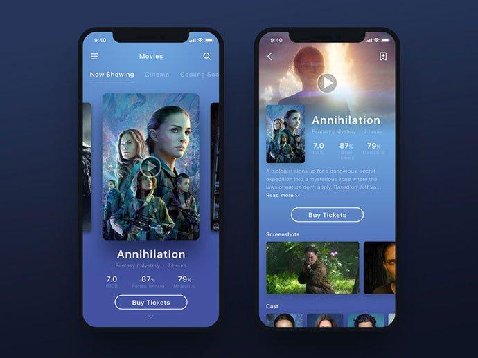 Annihilation - 63+ Amazing Film & TV App UI Design Sample [year]