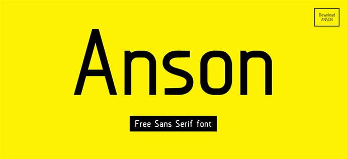 Anson - 36+ Free Quality Sans-Serif Designer Fonts [year]