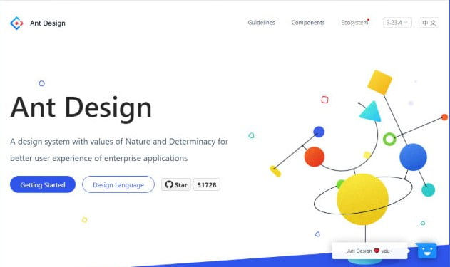 Ant-Design - 61+ Free React UI Component Libraries [year]