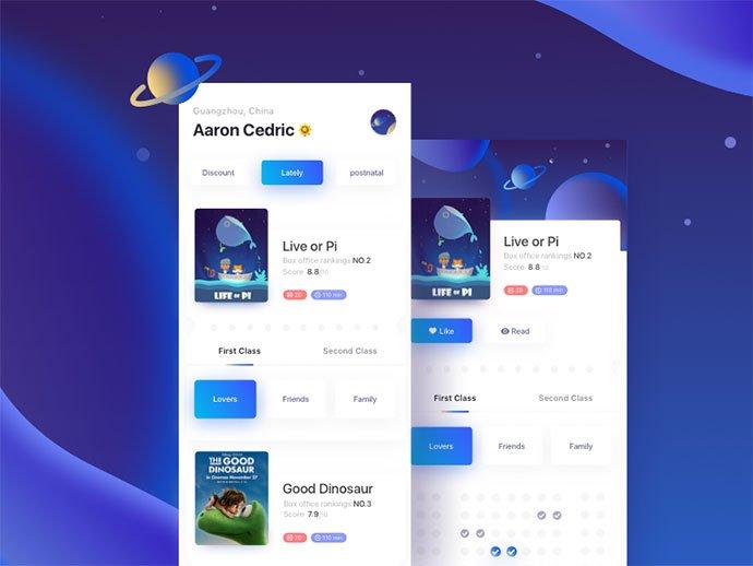 Arise - 63+ Amazing Film & TV App UI Design Sample [year]