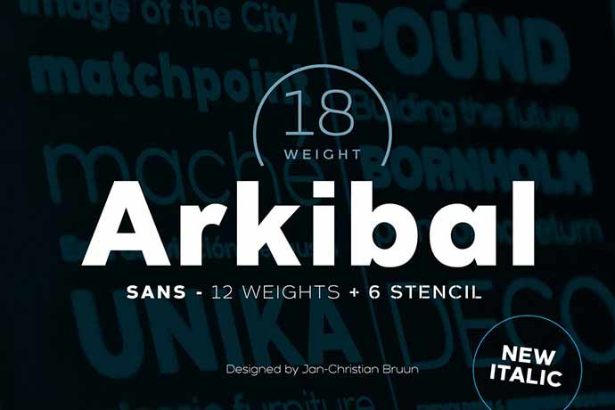 Arkibal-Sans - 56+ Awesome Free Movie Poster Title Extra Bold Fonts [year]