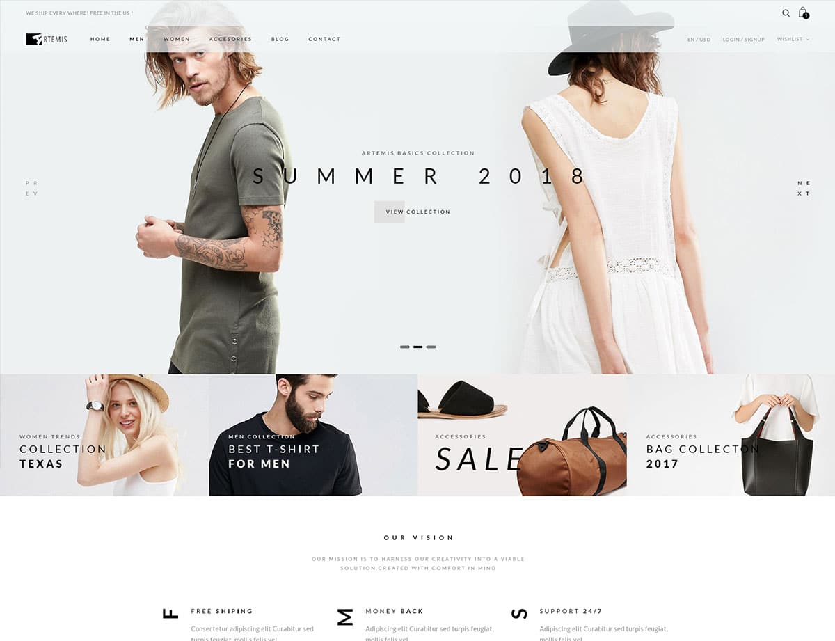 Artemis - 46+ Top Best WordPress Themes For Ecommerce [year]