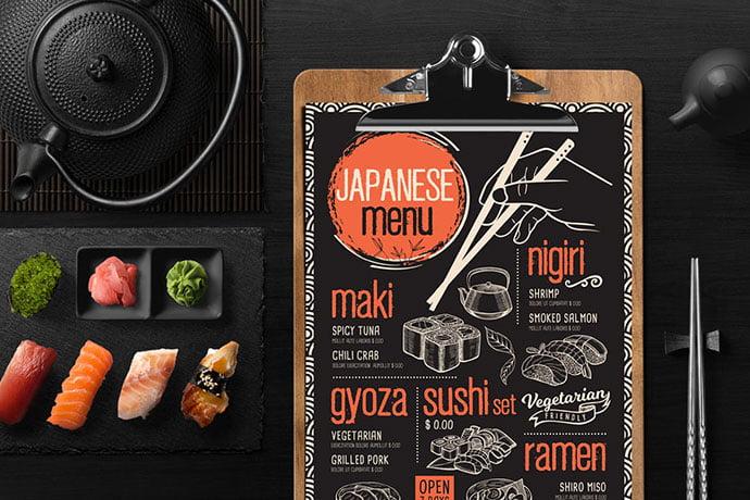Asian-Food-Menu-Template - 36+ Stunning Hand Drawn Restaurant Menu Design PSD Templates [year]