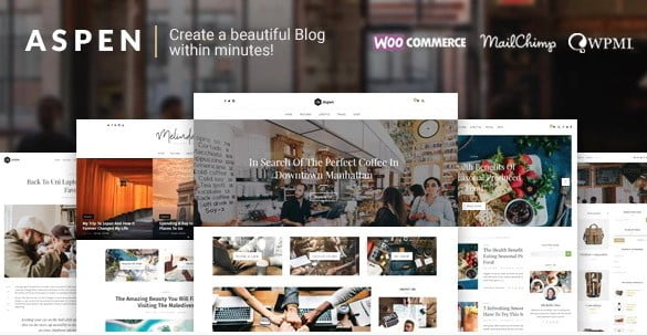 Aspen - 33+ WordPress Themes To Make Your Blog Attractive [year]