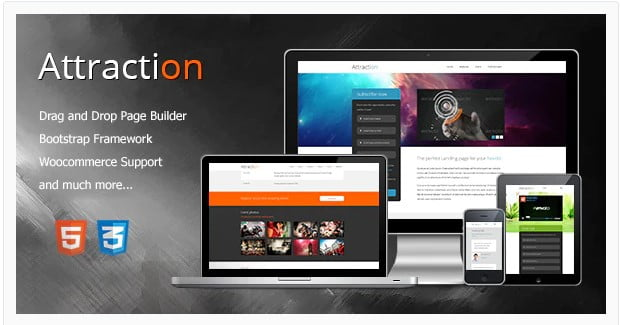 Attraction - 36+ Amazing Tumblr Style WordPress Themes For Developer [year]