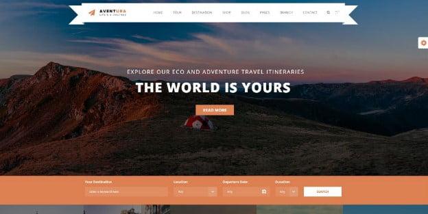 Aventura - 36+ Nice Tour & Travel Business WordPress Themes [year]