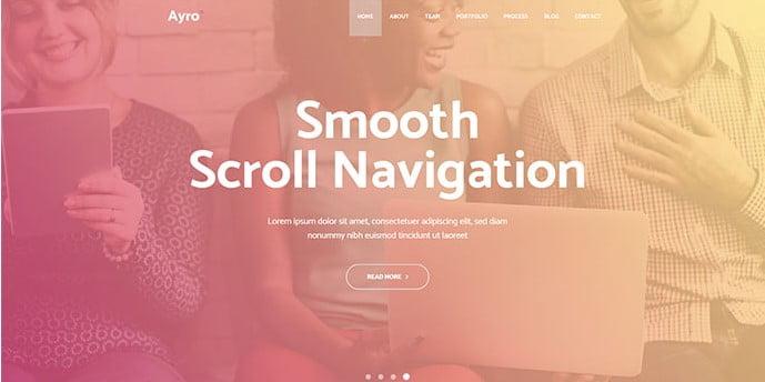 Ayro - 36+ Wonderful Gradients Designs WordPress Theme [year]