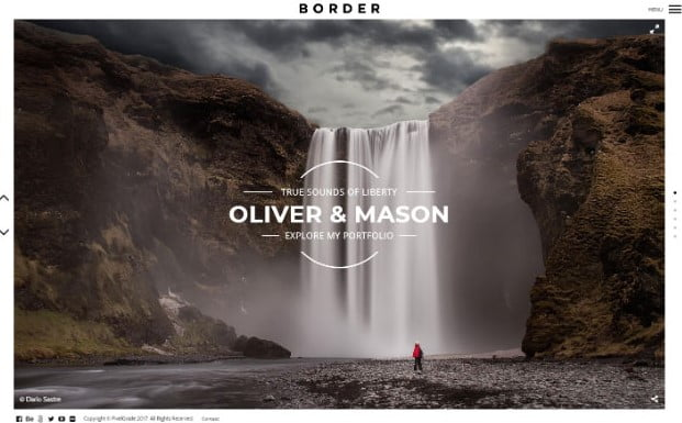 BORDER - 31+ Top WordPress Themes For Landscape Photography Portfolio [year]