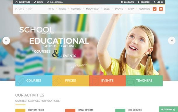 Baby-Kids - 51+ Top Best WordPress Themes For Education [year]