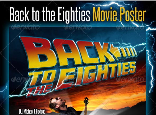 Back-To-The-Eighties-Movie-Poster - 56+ Awesome Free Movie Poster Title Extra Bold Fonts [year]