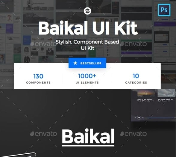 Baikal-UI-Kit - 61+ Free React UI Component Libraries [year]