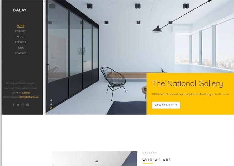 Balay - 41+ Top Best Free WordPress & HTML5 Template [year]