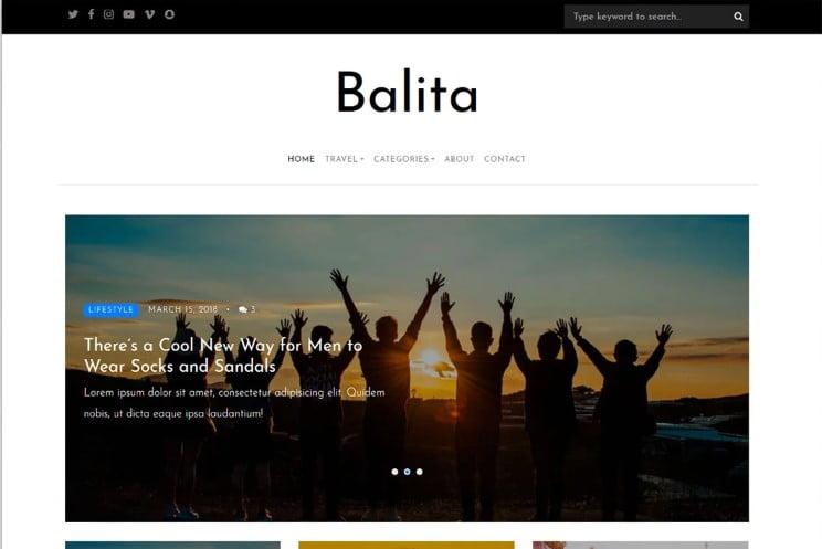 Balita - 41+ Top Best Free WordPress & HTML5 Template [year]