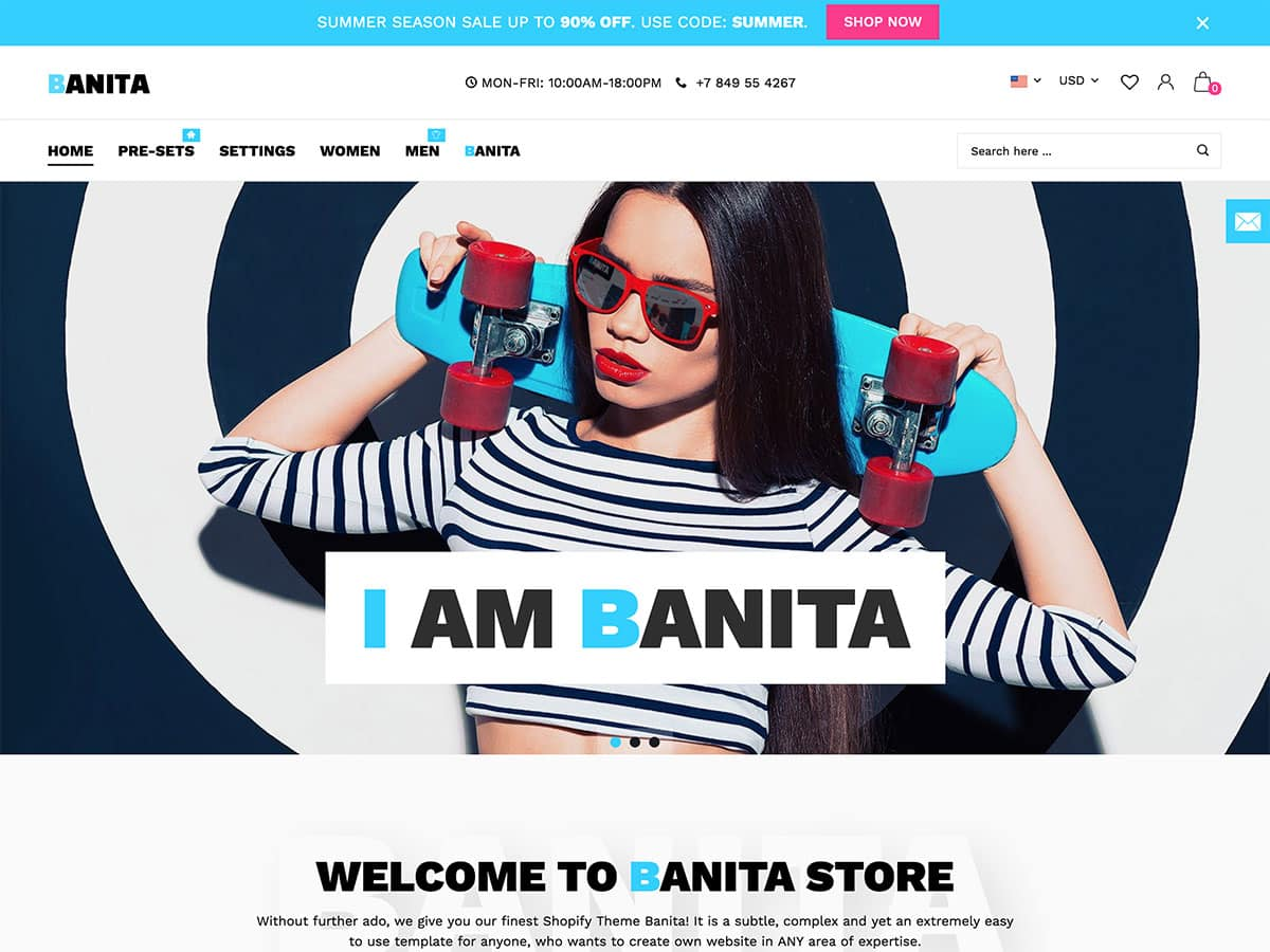 Banita - 41+ Awesome Shopify Themes For Your Business [year]