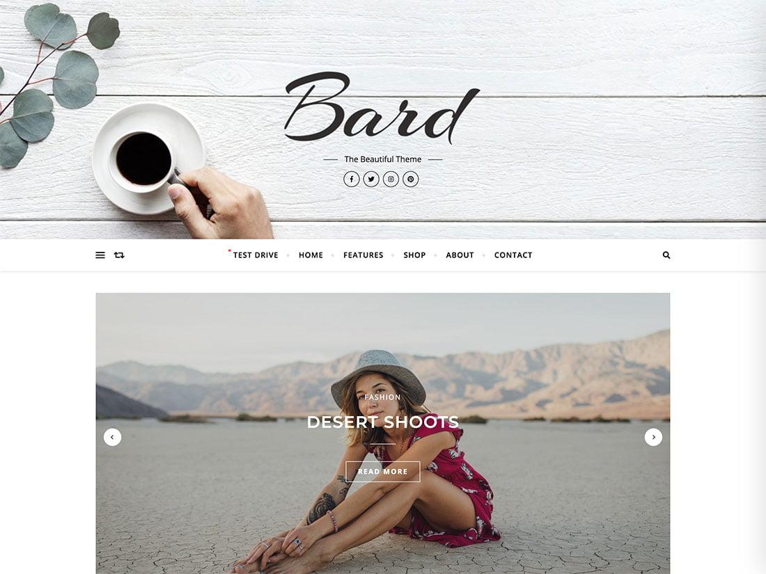 Bard - 43+ Top Free WordPress Blog Themes [year]