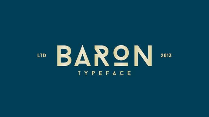 Baron - 36+ Free Quality Sans-Serif Designer Fonts [year]