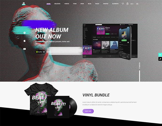Beatit-1 - 31+ Best Online Music Selling WordPress Themes [year]