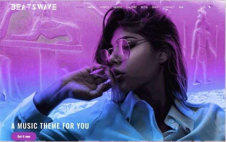 BeatsWave - 41+ Stunning Responsive Music Website Templates [year]