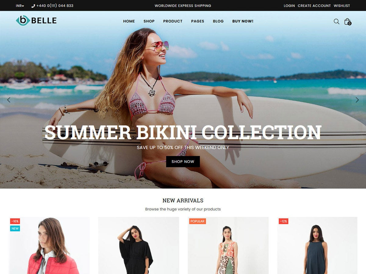 Belle - 41+ Awesome Shopify Themes For Your Business [year]