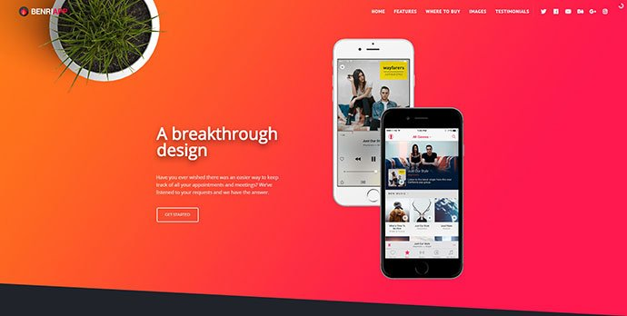 Benri - 31+ Unique Parallax Experience WordPress Themes For Developer [year]