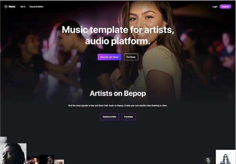 Bepop - 41+ Stunning Responsive Music Website Templates [year]