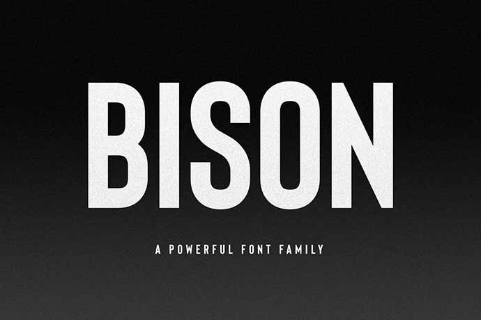 Bison-Font-Family - 56+ Awesome Free Movie Poster Title Extra Bold Fonts [year]