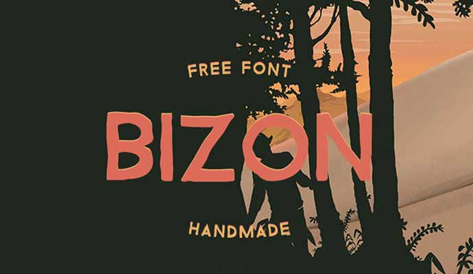 Bizon - 56+ Awesome Free Movie Poster Title Extra Bold Fonts [year]