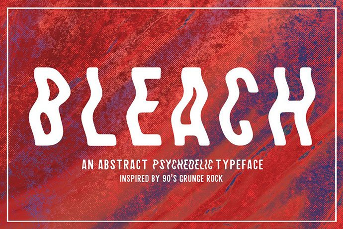 Bleach - 32+ Honestly Impressive Distorted Fonts [year]